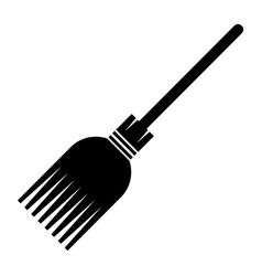 witch broomstick icon isolated vector image