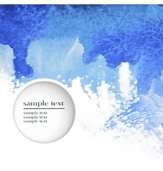 abstract watercolor blue background vector image