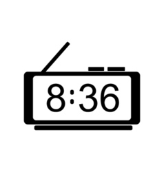 Digital clock icon vector image vector image