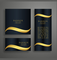 premium clean banners or cards design with golden vector image vector image