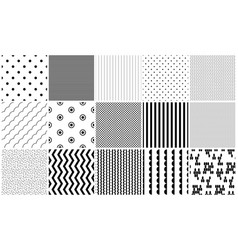 Seamless pattern black and white geometric vector