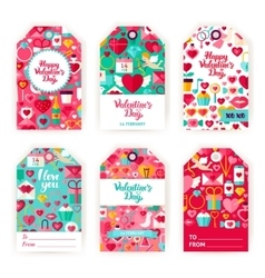 Valentines Day Gift Tag Labels vector image vector image