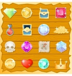 Pirate Game Jewel Gold Skull Trasure Chest Potion vector image vector image