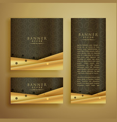 premium banners set in different sizes vector image vector image