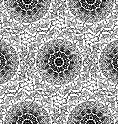 Seamless Contour Floral Pattern vector image vector image