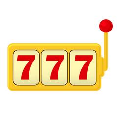 slot machine jackpot - three 7 classic gambling vector image