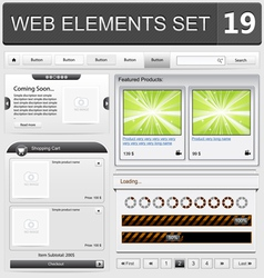 web elements set 19 vector image