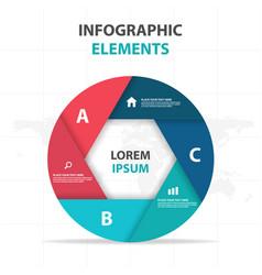 abstract hexagon circle business infographics vector image
