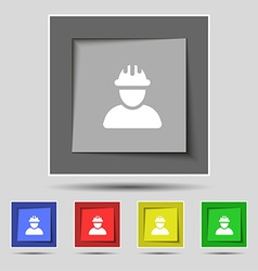 Construction worker builder icon sign on original vector image vector image