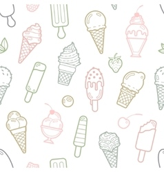 cute pastel ice cream seamless pattern vector image