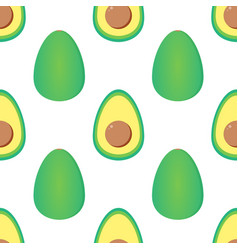 Green avocados seamless pattern background vector