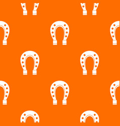 horse shoe pattern seamless vector image
