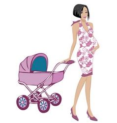 pregnant woman vector image vector image
