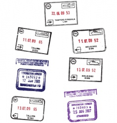 travel stamps vector image vector image