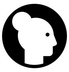 Woman profile icon vector image vector image