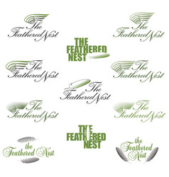 A stylized logo or symbol for a feathered nest vector