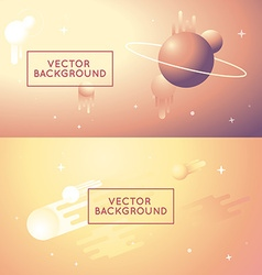Abstract backgrounds in bright gradient colors vector