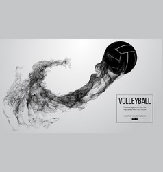 Abstract silhouette of a volleyball player ball vector