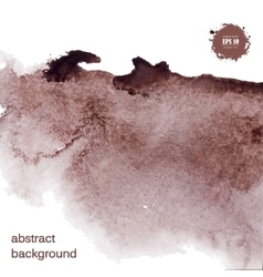 Abstract watercolor grunge brown background vector