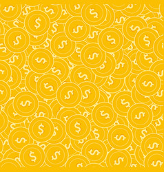american dollar coins seamless pattern vector image