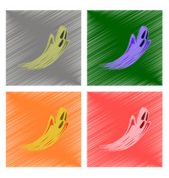 assembly flat shading style icon ghost vector image