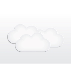 Background with paper cloud vector image