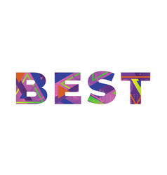 Best concept retro colorful word art vector