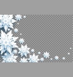 big snowflakes isolated vector image