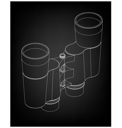 binoculars on a black vector image