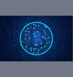 bitcoin electronic vector image