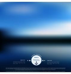 Blurred landscape background Travel concept vector