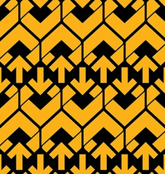 Bright abstract seamless pattern with yellow vector image