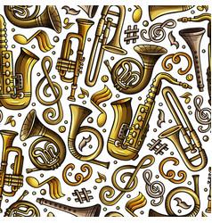 Cartoon hand-drawn classic music seamless pattern vector