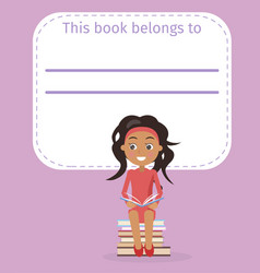 cover with place for signing and girl vector image
