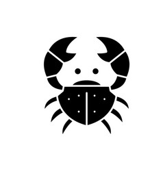 crab black icon sign on isolated vector image