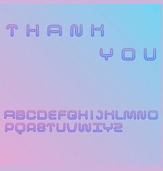 decorative linear font gradient blue and violet vector image