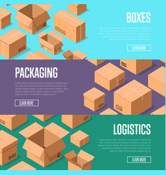 Delivery packaging and logistics advertising vector