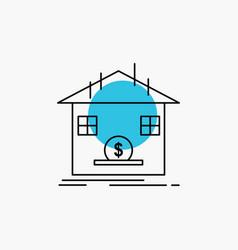 deposit safe savings refund bank line icon vector image
