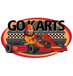 design logo go karts vector image
