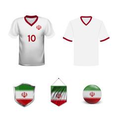 Design soccer ball flag iran vector