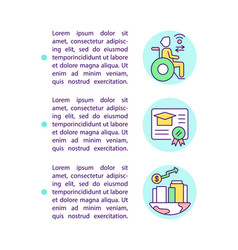 Digital literacy achieving concept line icons vector