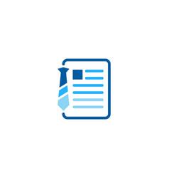 Document job logo icon design vector
