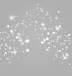 dust sparks golden stars vector image