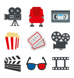 Element object for movie and cinema sign vector