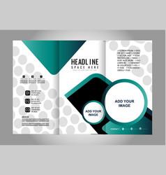 Empty tri-fold brochure print template desi vector