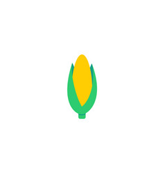 flat icon corn element of vector image