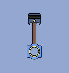 Flat icon design collection car piston vector