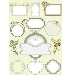 Frames with different patterns of curves vector image