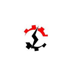 gear bolt service vector image