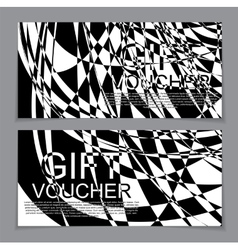 Gift Voucher Template with the abstract in the vector